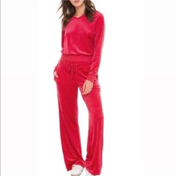 New Juicy Couture Black Label Velour Malibu Pants